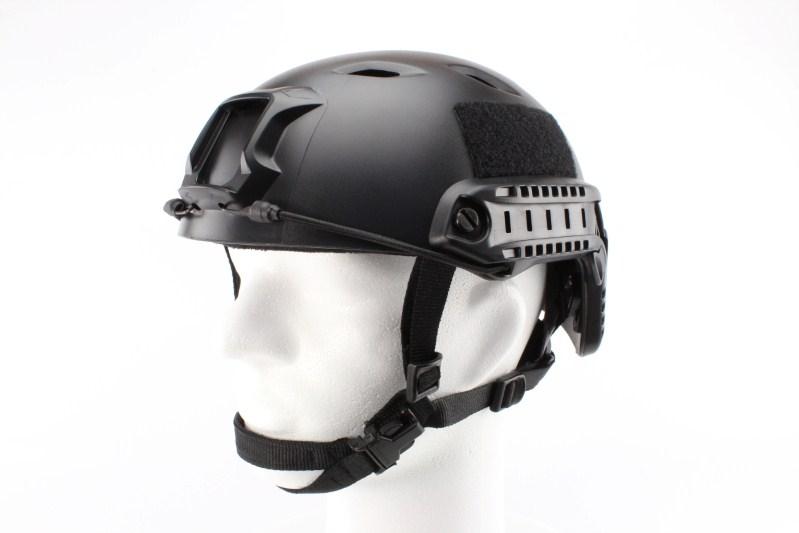 Vojenská helma FAST s příslušenstvím, typ BJ, barva černá, NOVÝ MODEL 360 foto