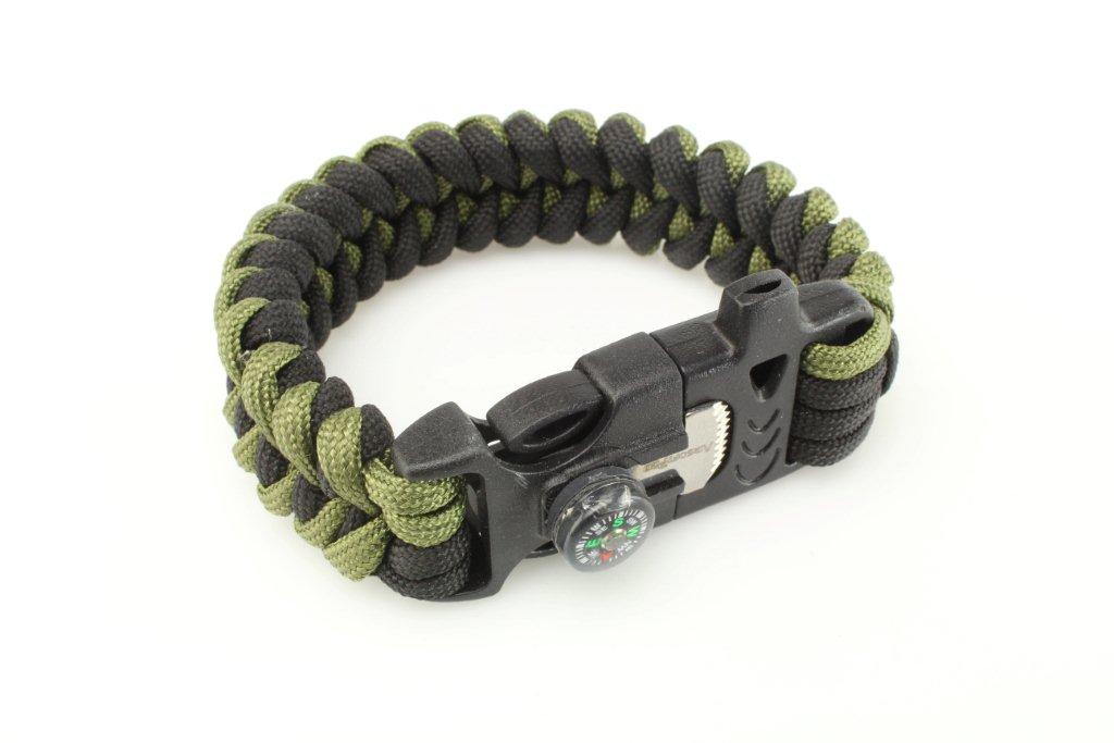 Outdoor paracord survival bracelet 360 foto