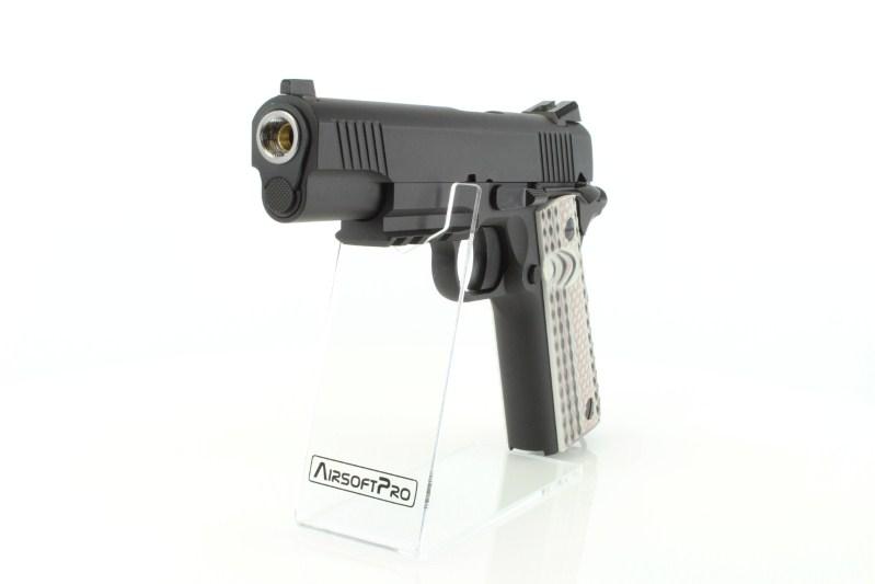 Airsoftová pistole M45 A1 - GBB, celokov, černá 360 foto