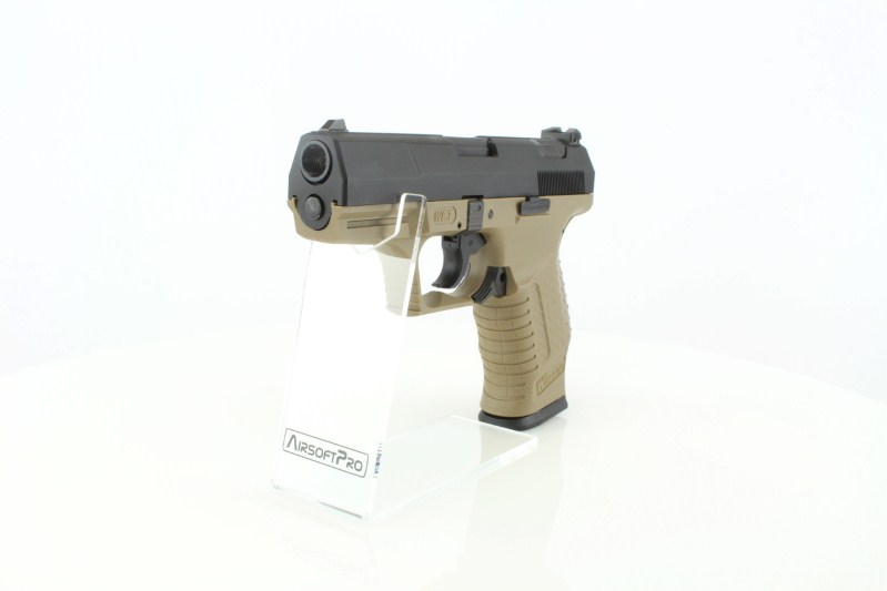 Airsoftová pistole E99 (P99) God of War - celokov, blowback - TAN 360 foto