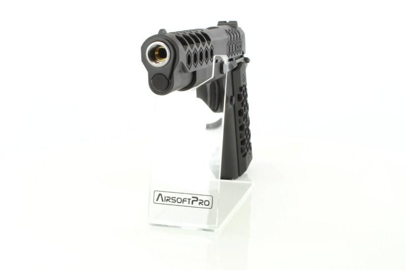 Airsoftová pistole M1911 Hex Cut - GBB, celokov, Gen2 - černá 360 foto