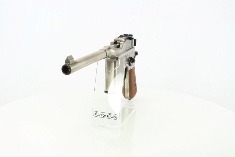 Airsoft pistol WE 712, full metal, blowback, full auto, silver 360 foto