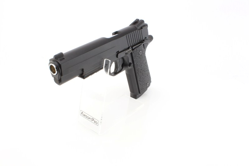 Airsoft pistol 1911 GSR CO2, metal slide, non-blowback - black 360 foto