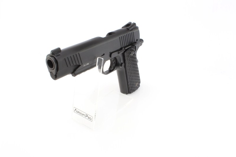 1911 M.E.U. CO2 blowback pistol, full metal, blowback - black 360 foto