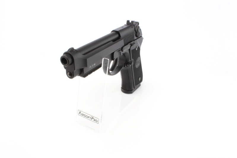Airsoftová pistole M92, CO2 celokov, blowback  - černá, full auto 360 foto