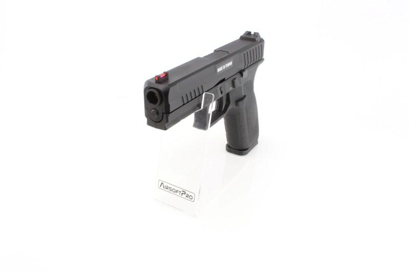 Airsoftová pistole KP-13, kovový závěr, blowback, CO2 - černá 360 foto