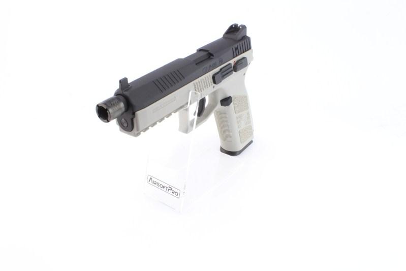 Airsoftová pistole CZ P-09 Urban Grey, kovový závěr, CO2, blowback 360 foto