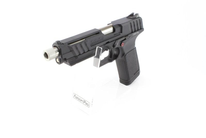 Airsoftová pistole GTP9, plyn blowback (GBB) - černá 360 foto