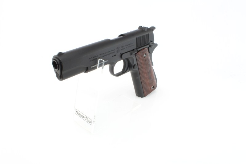 Airsoft pistol GPM1911, full metal, gas blowback (GBB) - black 360 foto