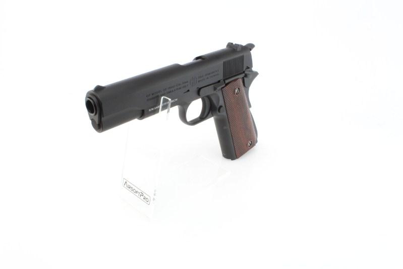 Airsoftová pistole GPM1911, celokov, plyn blowback (GBB) - černá 360 foto