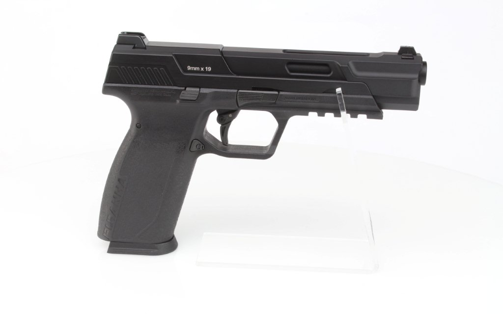 Airsoft pistol Piranha Mk I, full metal, gas blowback (GBB) - black 360 foto