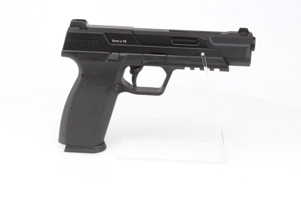 Airsoftová pistole Piranha Mk I, celokov, plyn blowback (GBB) - černá 360 foto