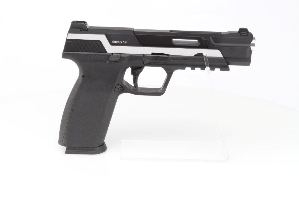 Airsoftová pistole Piranha Mk I, celokov, plyn blowback (GBB) - Dual Tone 360 foto