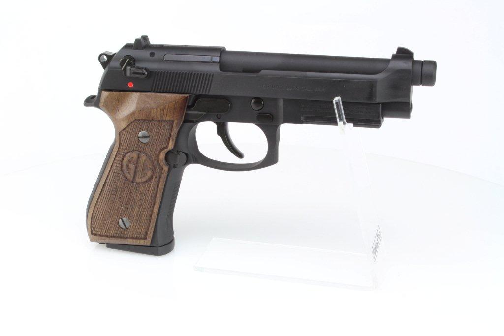 Airsoftová pistole GPM92 GP2, celokov, plyn blowback (GBB) - ořechové dřevo 360 foto