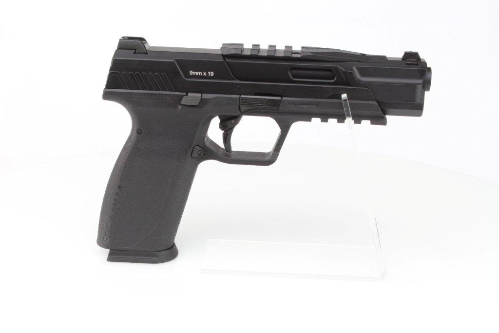 Airsoftová pistole Piranha TR, celokov, plyn blowback (GBB) - černá 360 foto