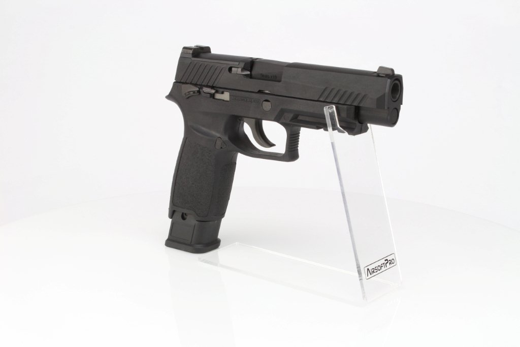 Airsoft pistol F17 - GBB, full metal - black 360 foto
