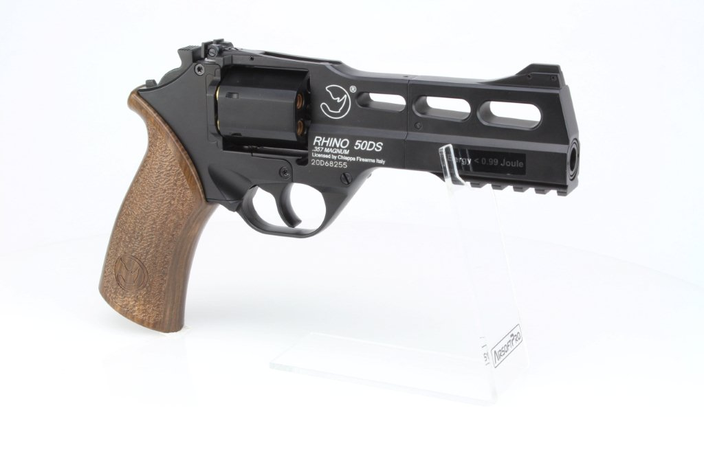 Airsoftový revolver Chiappa Rhino 50DS CO2 - černý 360 foto