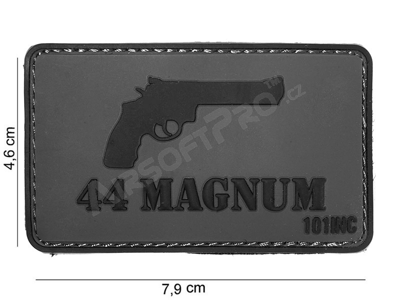 PVC 3D patch ″44 Magnum″ with velcro - grey [101 INC]