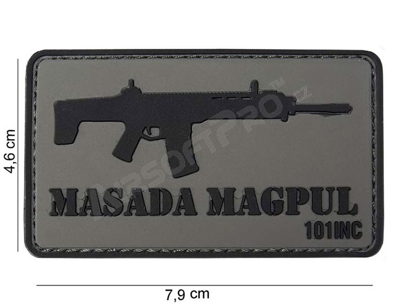 PVC 3D patch ″Masada Magpull″ with velcro - grey [101 INC]