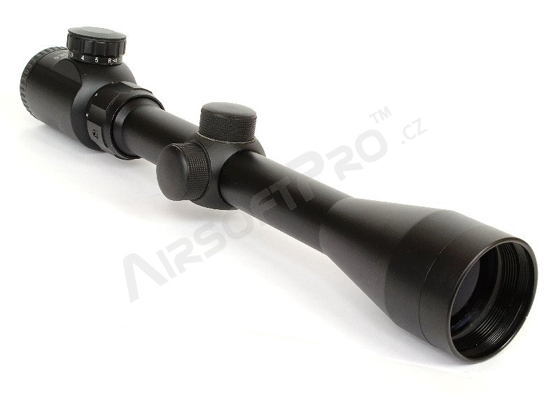 Illuminated rifle scope 3-9x40E with mount rings [A.C.M.]