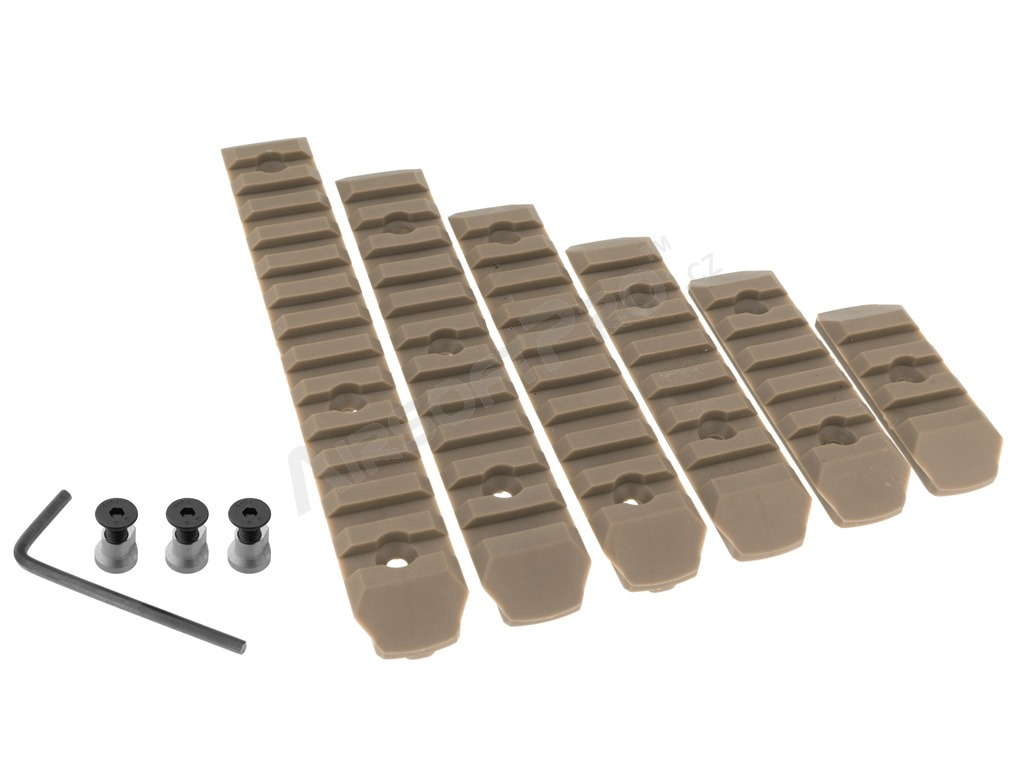 Set of 6 polymer RIS rails for KeyMod foregrip - TAN [A.C.M.]