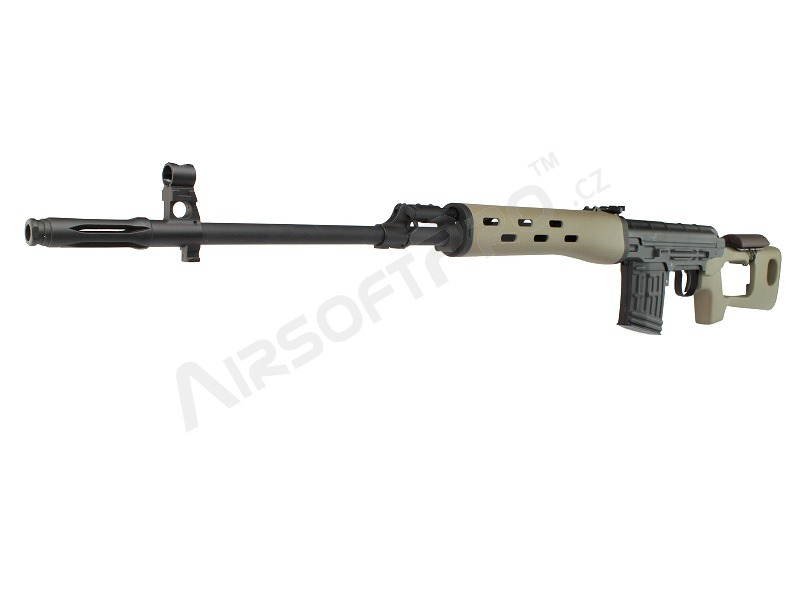 SVD spring action sniper rifle, 500 FPS - desert version [AimTop]