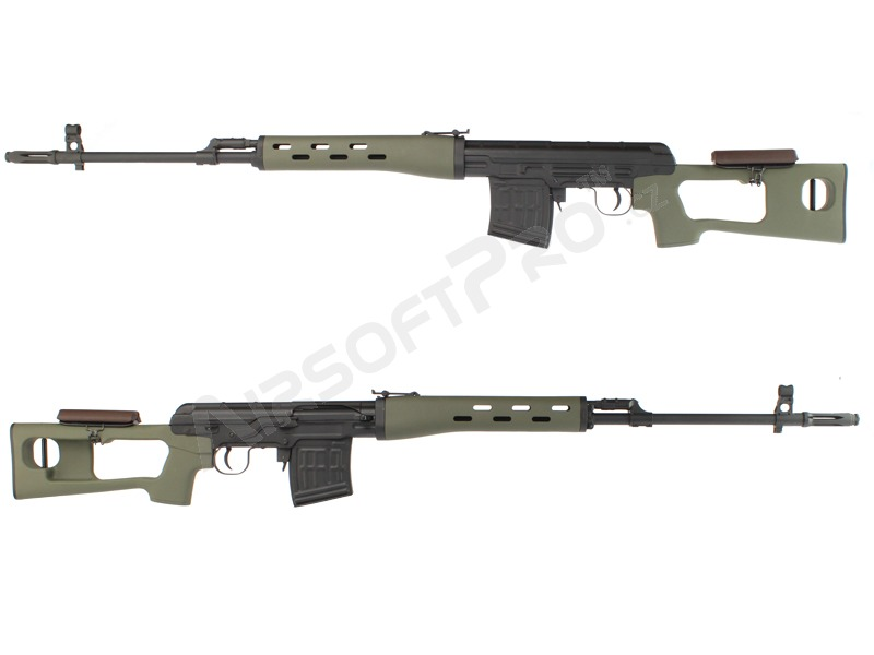 SVD spring action sniper rifle, 500 FPS - olive version [AimTop]
