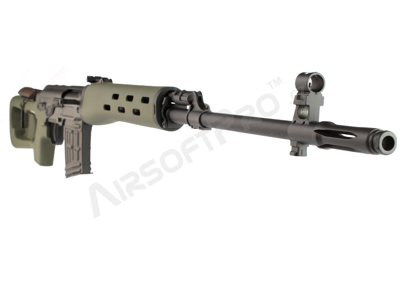 Airsoft SVD spring action sniper rifle, 500 FPS - olive version [AimTop]