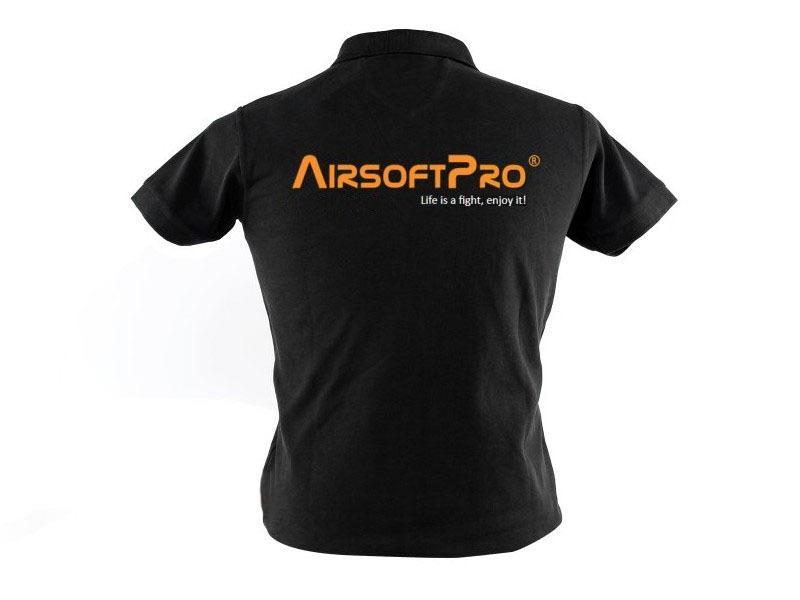 a2de63199a0 Reklamní předměty   Pánské polo triko AirsoftPro - černé