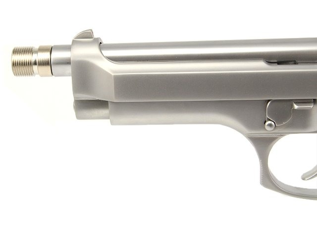 WE pistols silencer adaptor - short, stainless steel [AirsoftPro]