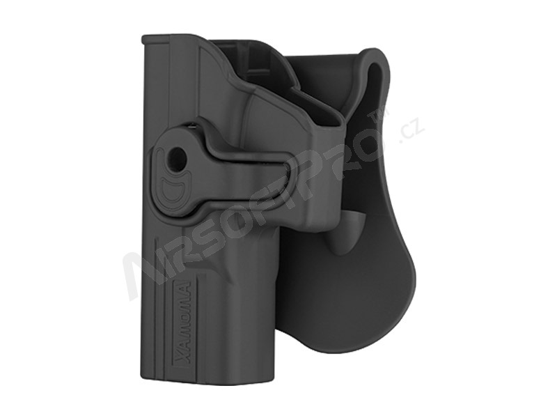Left handed tactical polymer holster for G-series - black [Amomax]