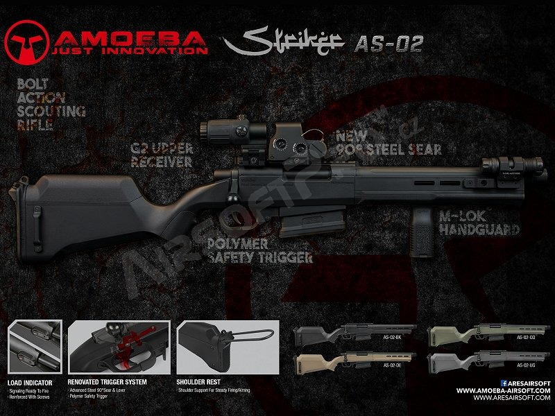 Airsoft sniper Amoeba ″Striker″ SAG AS02 - DE [Ares/Amoeba]