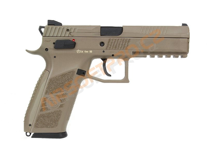 Airsoftová pistole CZ P-09 FDE, plyn, blowback [ASG]