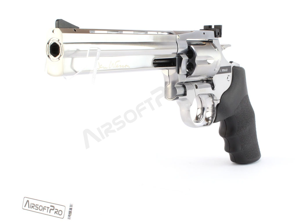 Airsoftový revolver DAN WESSON 715 - 6″ Silver, Low Power náboje - CO2 [ASG]
