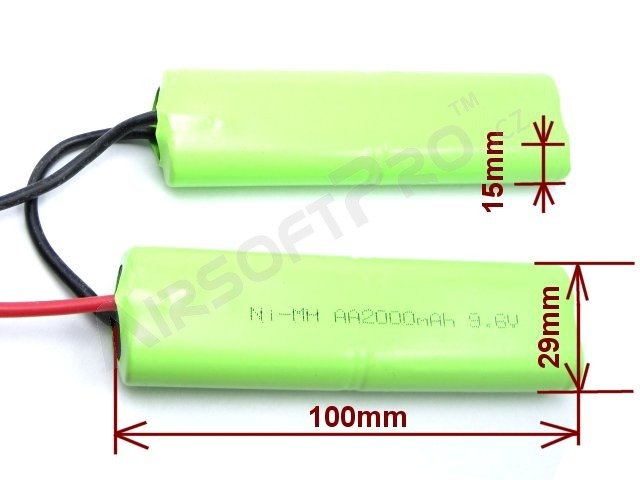 Akumulátor NiMH 9,6V / 2200mAh - Twin AA, PEQ2 [VB Power]