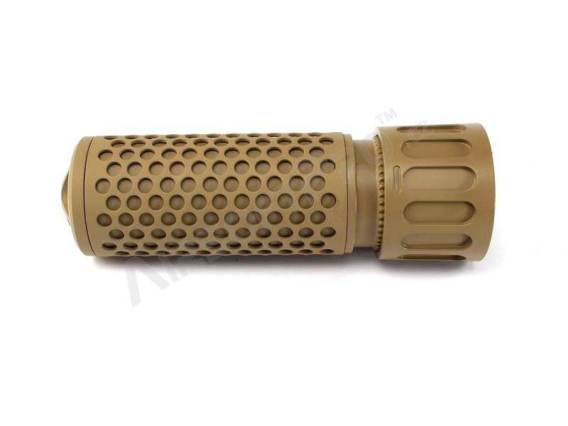 Quick Detach Supressor / Silencer KAC QDC CQB, 135mm - TAN [Big Dragon]
