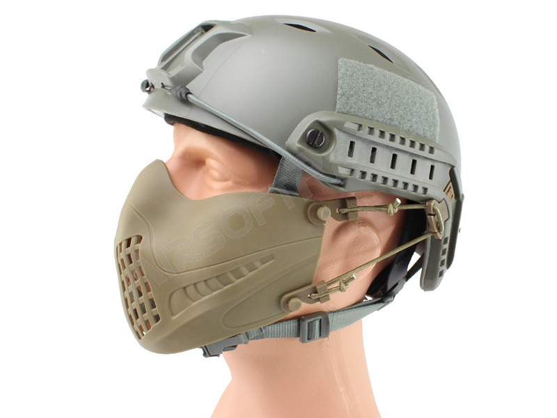 Maska na airsoft Tactical Pilot - Coyote Brown (CB) [Big Dragon]