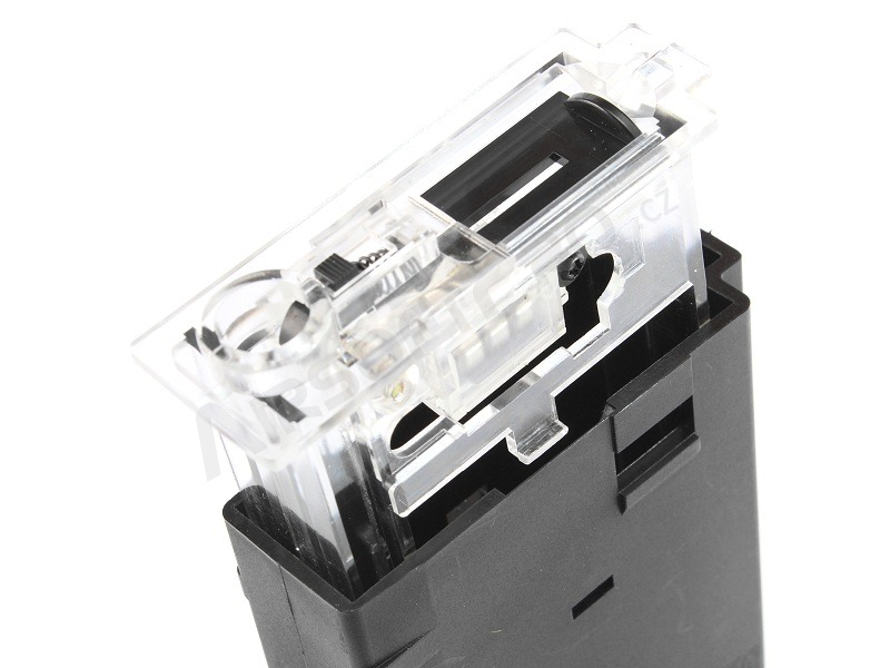 Hi-Cap 300 rds tracer magazine for M4 AEG + mag style bottle + 1200 tracer BBs - black [BLS]