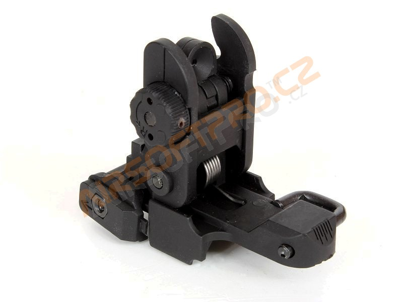 Rear plastic folding sight for RIS rails [CYMA]
