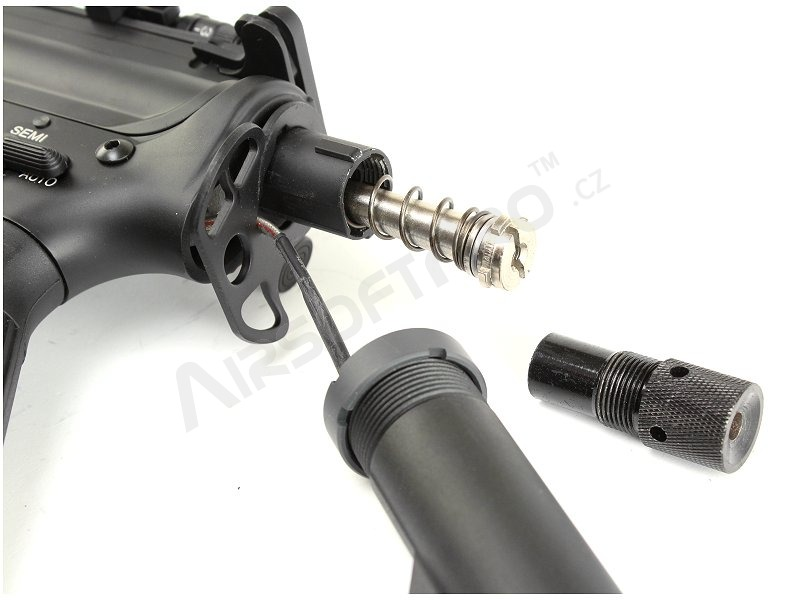 Airsoft rifle SR-15 with the QD gearbox v 1.5 - black, (EC-303) [E&C]