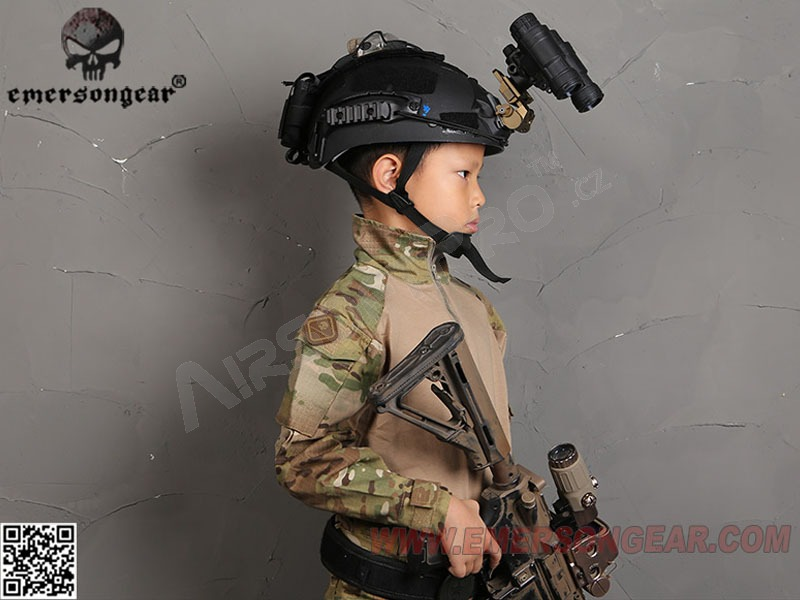 Tactical helmet for kids - black [EmersonGear]