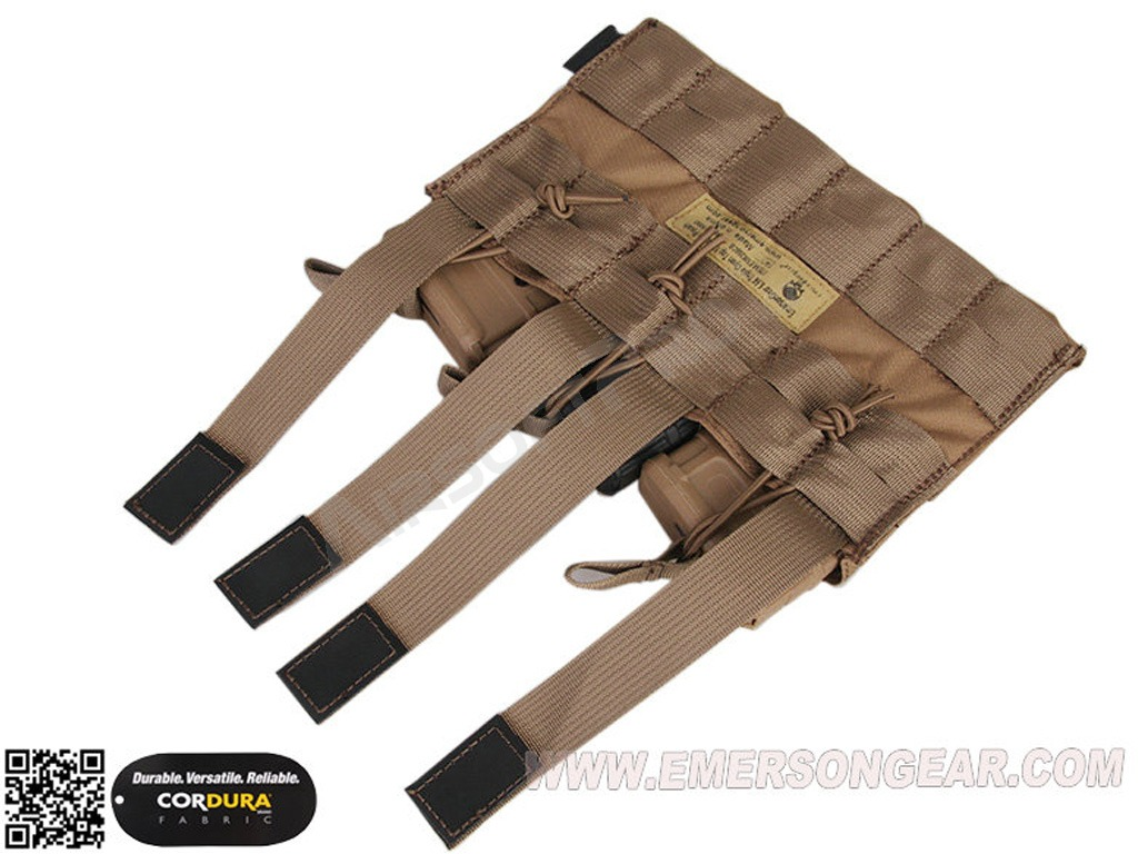 5.56 Triple Open Top Magazine Pouch - Coyote Brown [EmersonGear]