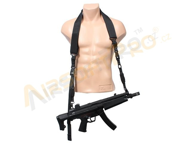 2-point Urben bungee rifle sling - Black [EmersonGear]