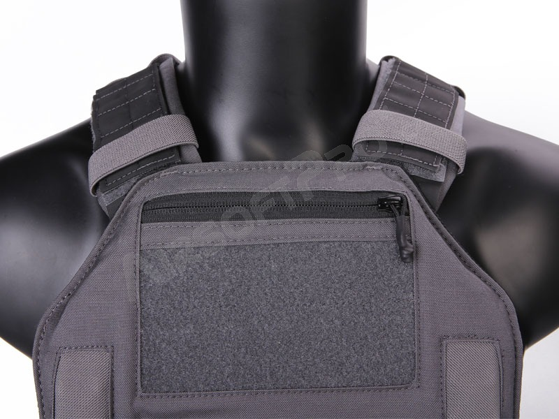 Vest : 420 Plate Carrier Tactical Vest With 3 Pouches - Wolf