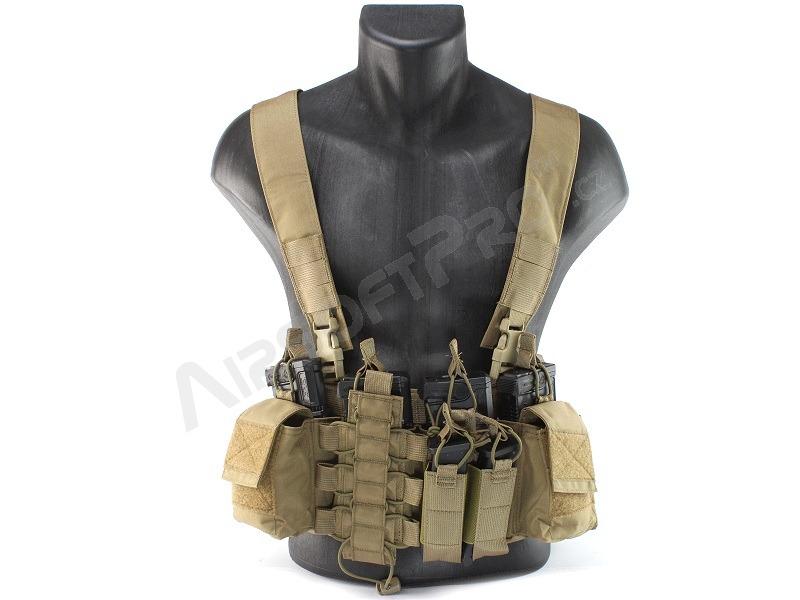 Us army Airsoft Combat Tactique USMC assault vest militaire holster pochettes tan