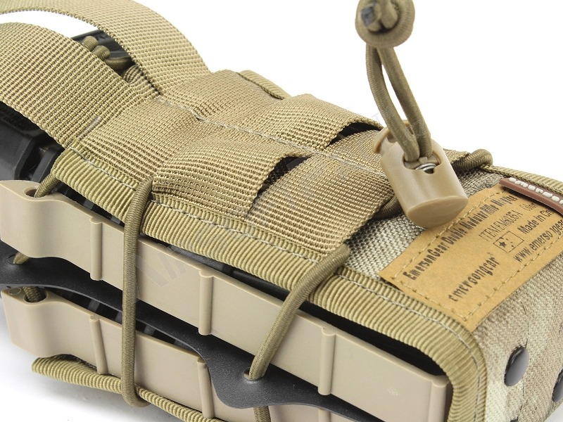 Double modular rifle magazine pouch - A-TACS AU [EmersonGear]