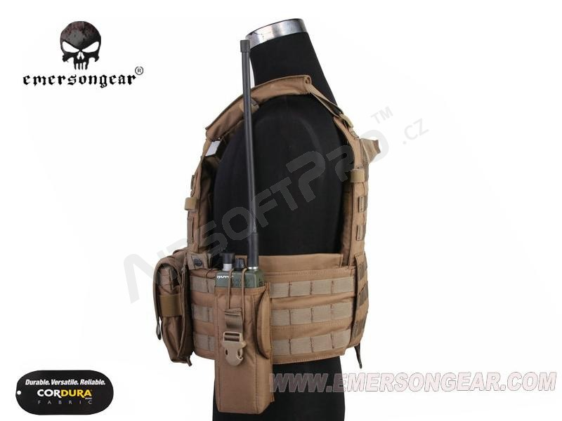 LBT6094A Plate Carrier With 3 Pouches - Coyote Brown (CB) [EmersonGear]