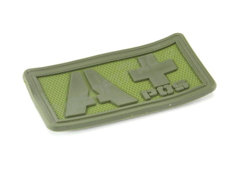 PVC 3D Blood type velcro patch A+  - OD color [EmersonGear]