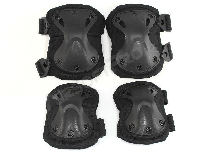 Protectors : Tactical elbow and knee pad set - black