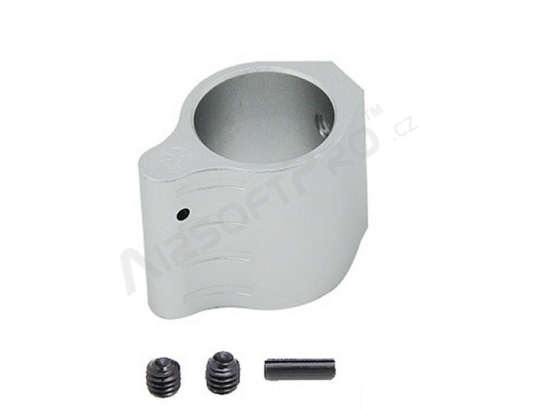 Low profile barrel gas block for M4 series - silver [FMA]
